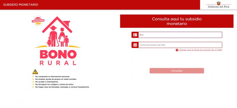 Esta es la web oficial para conocer si accederá al bono bono rural.